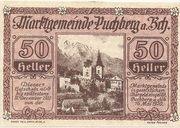 50 Heller (Puchberg am Schneeberg) – avers