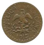2 Centavos (Tetela del Oro y Ocampo) – avers