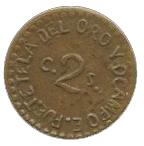 2 Centavos (Tetela del Oro y Ocampo) – revers