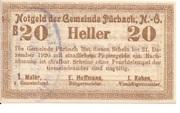 20 Heller (Pürbach) – avers