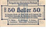 50 Heller (Pürbach) – avers