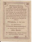 20 Heller (Pürnstein) – revers