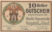10 Heller (Purgstall) – avers