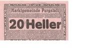20 Heller (Purgstall) – avers