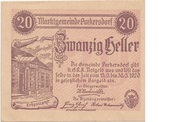 20 Heller (Purkersdorf) – avers