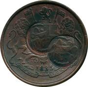 ¼ Anna - Munassar (10mm CM on KM#446.1) – avers