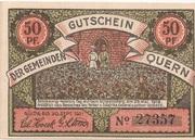50 Pfennig (Quern) – avers