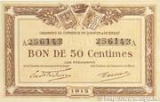 50 centimes - Chambres de Commerce de Quimper et de Brest [29] – avers