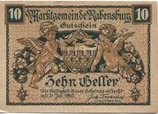 10 Heller (Rabensburg) – avers