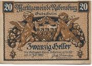 20 Heller (Rabensburg) – avers