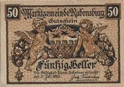 50 Heller (Rabensburg) – avers