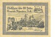 10 Heller (Rabenstein) – avers