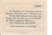 10 Heller (Rabenstein) – revers