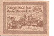 20 Heller (Rabenstein) – avers