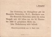 20 Heller (Rabenstein) – revers