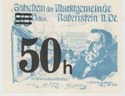 50 Heller Rabenstein(Noir) – avers