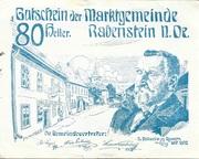 80 Heller (Rabenstein) – avers