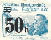 50 Heller (Rabenstein) – avers