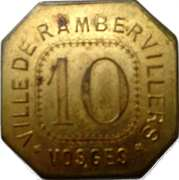 Jeton  - 10 - Fourneau économique - Rambervillers (88) – avers