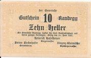 10 Heller (Randegg) – avers