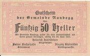 50 Heller (Randegg) – avers