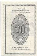 20 Heller (Rastenfeld) – revers