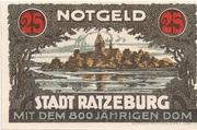 25 Pfennig (Ratzeburg) – revers