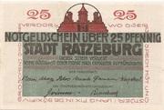 25 Pfennig (Ratzeburg) – avers