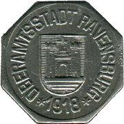 5 pfennig - Ravensburg – avers