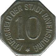 10 pfennig - Ravensburg – revers