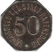 50 pfennig  - Ravensburg – revers