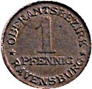 1 pfennig - Ravensburg – revers