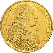 10 Ducat -Karl VII. – avers