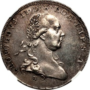 ½ taler Leopold II – revers