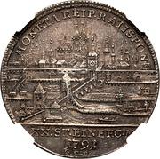 ½ taler Leopold II – avers