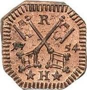 Regensburger Kupferheller – avers