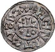 1 Denar - Heinrich II. der Zänke (Regensburg) – avers