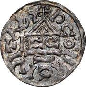 1 Denar - Heinrich II. der Zänke (Regensburg) – revers