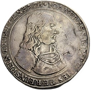 2 Thaler - Johann Erasmus von Tattenbach – avers