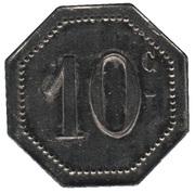 10 Centimes - A la Croix de Lorraine A. Demesy (Remiremont 88) -  revers