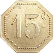 15 Centimes - A la Croix de Lorraine A. Demesy Remiremont 88 – revers
