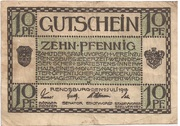 10 Pfennig (Rendsburg) – avers