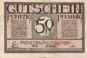 50 Pfennig (Rendsburg) – avers