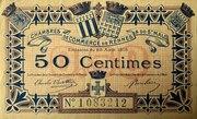 50 centimes - Chambres de Commerce de Rennes et de St Malo [35] – avers