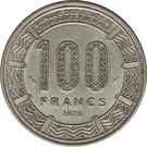 100 francs (Empire Centrafricain) – revers