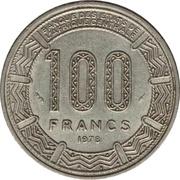 100 francs (Empire Centrafricain) – revers
