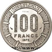 100 Francs CFA (Essai) -  revers