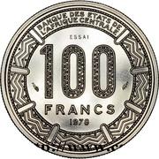 100 Francs CFA - Bokassa I (Pattern) – revers