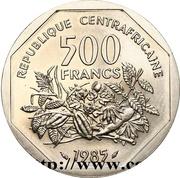 500 Francs CFA (Essai) – revers