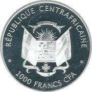 1000 francs (Protection de la vie sauvage - Piliocolobus Foai) – avers